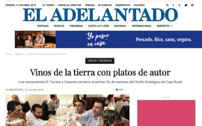 Wine Notes en EL ADELANTADO de Segovia